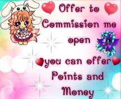 offer to commission me open by SweetAdoptParadies