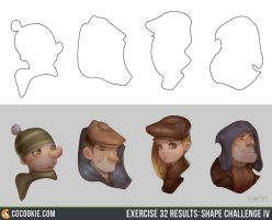 Exercise 32 Results: Shape Challenge IV by CGCookie