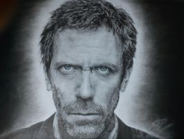 Dr. House - Hugh Laurie Portrait by Joe-Vega