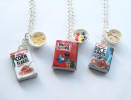Handmade Cereal Miniature Necklaces by ChroniclesOfKate