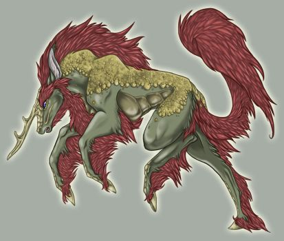 Commission - Kirin Stallion by Tigryph