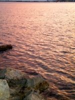 sunset on the sea by montmartre96