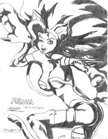 Felicia MVC 3 Concept Drawing by Hotfeet444