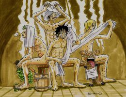 one piece, After the sauna by heivais