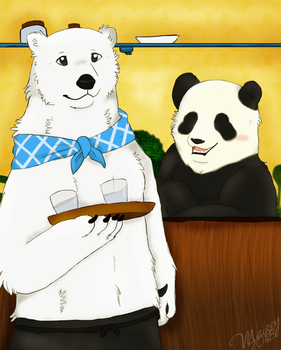 Polar Bear Cafe by Thatotterthing
