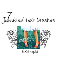 7 jumbled tiny text brushes by xcatrionax