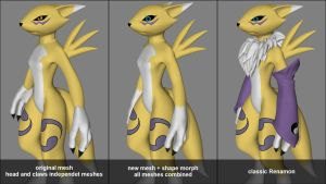 Renamon Project - Small mesh modifications by lycanarius