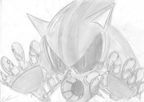 Metal Sonic sketch by EUAN-THE-ECHIDHOG
