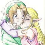 Link and Zelda by animepanfan