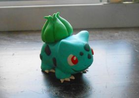 Polymer Clay Bulbasaur by Miss-Licorice