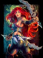Katarina the Sinister Blade. by weebasaurus