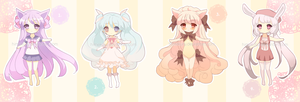 Adoptable Set No. 01 [CURRENTLY CLOSED] by Himekuru