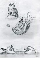 Owl Griffin Various Baths by RobtheDoodler