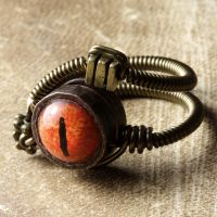 Beholder Steampunk ring by CatherinetteRings