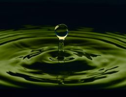 Water drop green by ChefPhoto