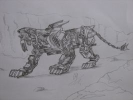 silver liger-OC by papel1