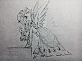 Fluttershy at the Gala by TonyDashie22