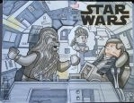 Lego Star Wars Fly Casual comic sketch cover by DanVeesenmeyer