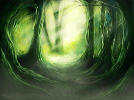 The forest of spirits by Imoon90