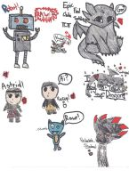 How 2 Train You Dragon Doodles by faither1382