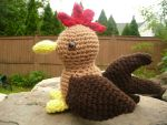 Brown Chicken Amigurumi by e1fy