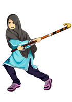Muslimah Hockey Player by ichi-iltea15