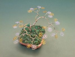 Bonsai Wire Tree Sculpture by sinisaart