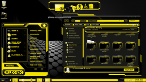 Theme Yellow Xux-ek windows 7 by newthemes