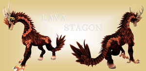 SPORE Creature - Lava Stagon by swordxdolphin