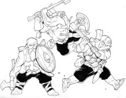 3 stage dwarf barbarian by Pachycrocuta