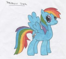 Rainbow Dash from MLP by Anitacrackers