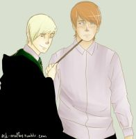 K Draco and Ron by asgaardian