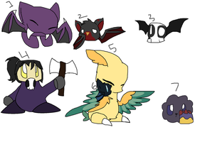 Kirby species adoptables (2 points each)  Batch #4 by ghostiibear