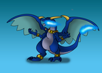 request: Blue the mega charizard X by Naeda