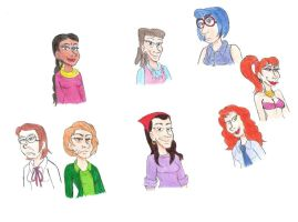 Humanized Simpsons Women by Violeta960