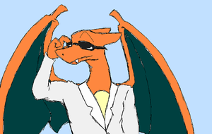 Way to be bad ass Charizard by Count-Von-Sammitchy