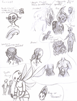 Fairies Sketches by SalemTheCat23