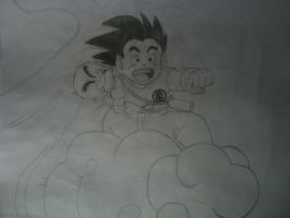 Kid Goku and Kid Krillin by strangejoe