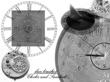 Clocks and Sundials Brushes by alianora