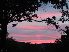 Red Sunset in Marburg by NacuVampire