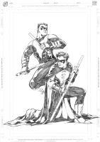 Robin and Nightwing by donnyg4