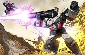 Megatron vs. Shockwave by Dan-the-artguy