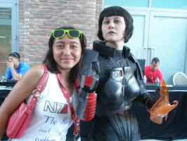 Me and Commander FemShep by FieryHeaven