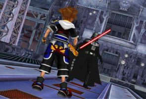 KH Deep Dive Destiny - Sora Confronts Darth Vader by todsen19