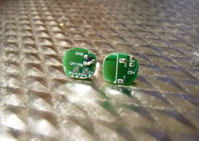 Circuit Board Earrings 2 by Divulged
