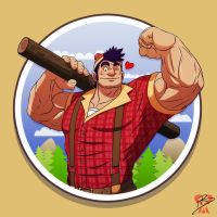 Paul Bunyan Badge by leomon32