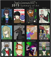 2015 Art Summary by AngelicCrossroads