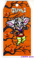 OLD: Chiv Chibi Halloween Tag Badge by beefyrae