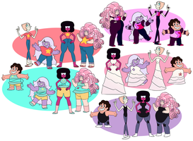 Steven Universe Outfit Swap by BananimationOfficial