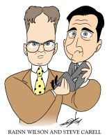 Wilson and Carell Caricature by JayFosgitt